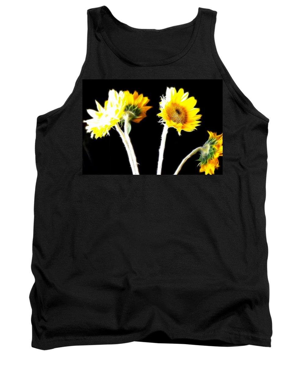 Sunflowers Tank Top featuring the photograph Brighten Your Day by Douglas Barnard