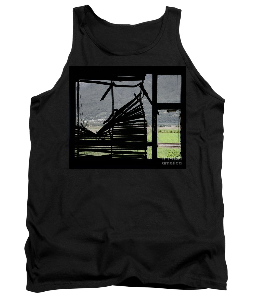 Window Tank Top featuring the photograph Broken Window by Mats Silvan