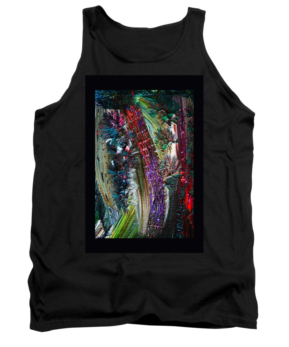 Abstract Tank Top featuring the painting Bursting by Marie Jamieson