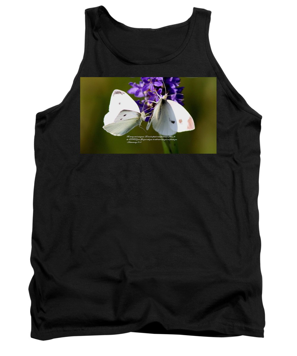 Dueteronomy 31 6 Tank Top featuring the photograph Butterfly - Dueteronomy 31 6 by Travis Truelove