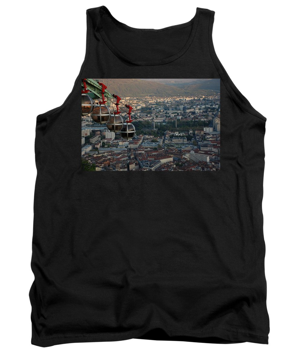 Grenoble Tank Top featuring the photograph Cable Car In Grenoble by Dany Lison