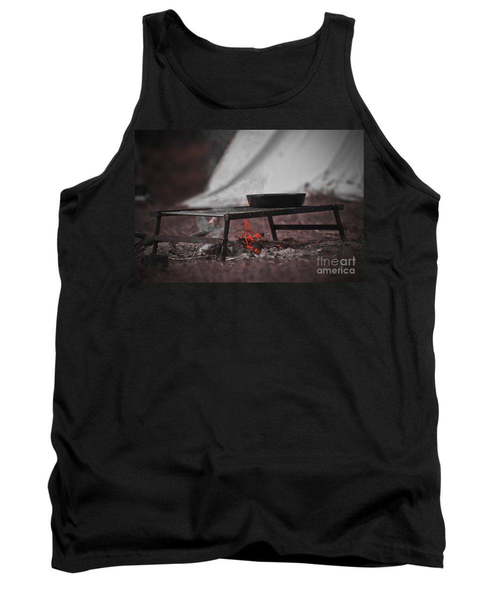 Fire Tank Top featuring the photograph Camp Fire by Kim Henderson