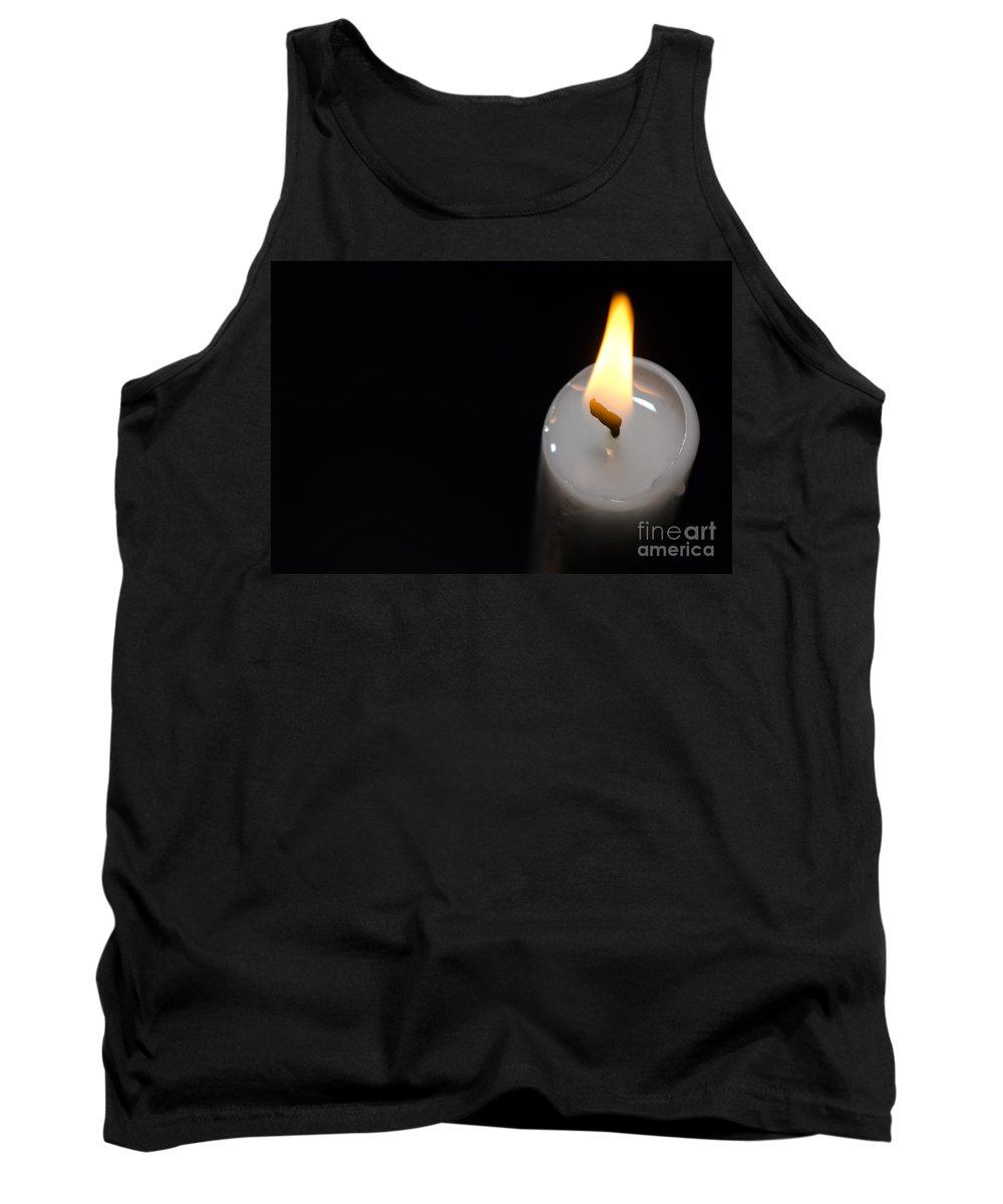 Candlelight Tank Top featuring the photograph Candlelight by Mats Silvan