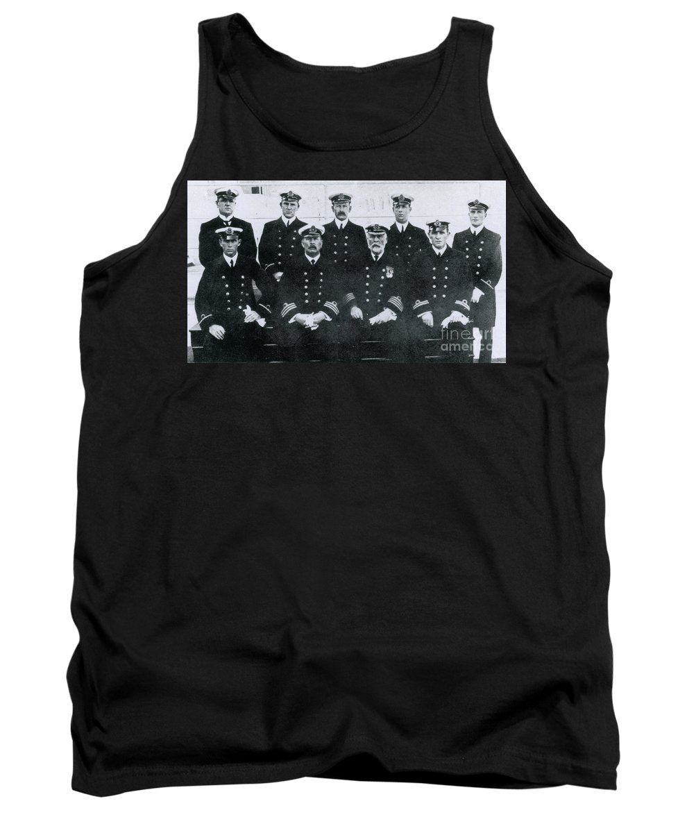 Captain Tank Top featuring the photograph Captain And Officers Of The Titanic by Photo Researchers