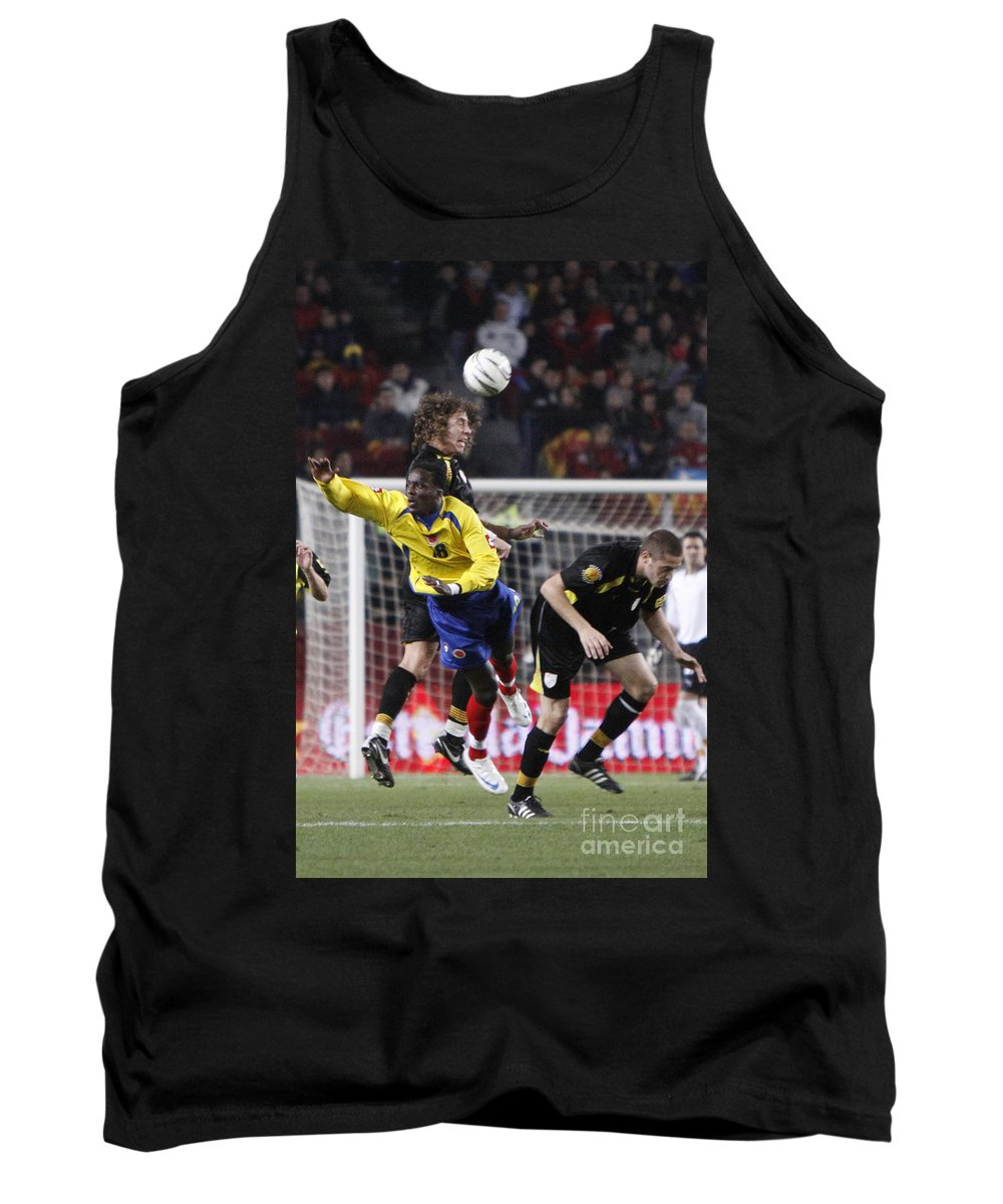 Carles Tank Top featuring the photograph Carles Puyol Jumping by Agusti Pardo Rossello