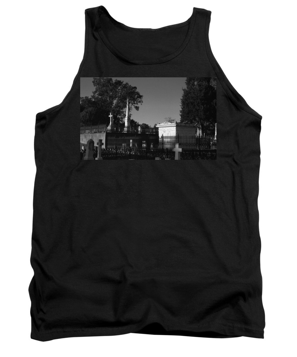 Louisiana Tank Top featuring the photograph Cemetery- Natchez Mississippi by Doug Duffey