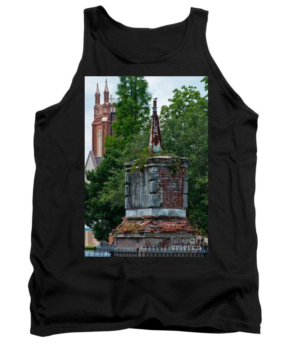 Cemetery Tank Top featuring the photograph Cemetery Spires by Kathleen K Parker