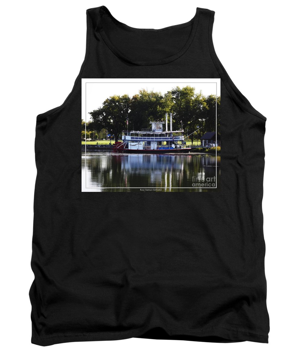 Chautauqua Lake Tank Top featuring the photograph Chautauqua Belle On Lake Chautauqua by Rose Santuci-Sofranko