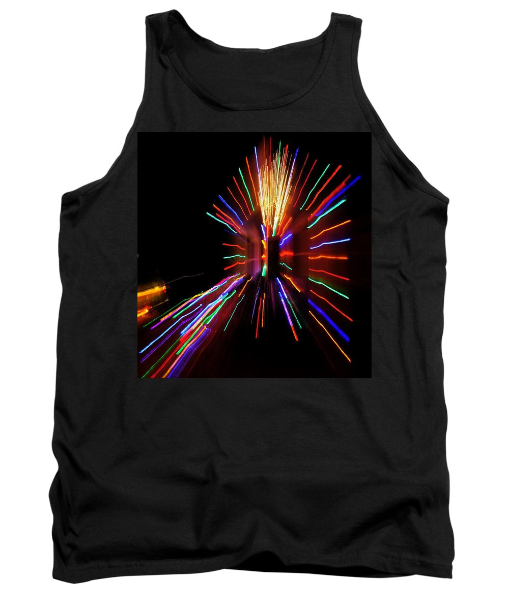 Tank Top featuring the photograph Christmas House Lights by Mark Valentine