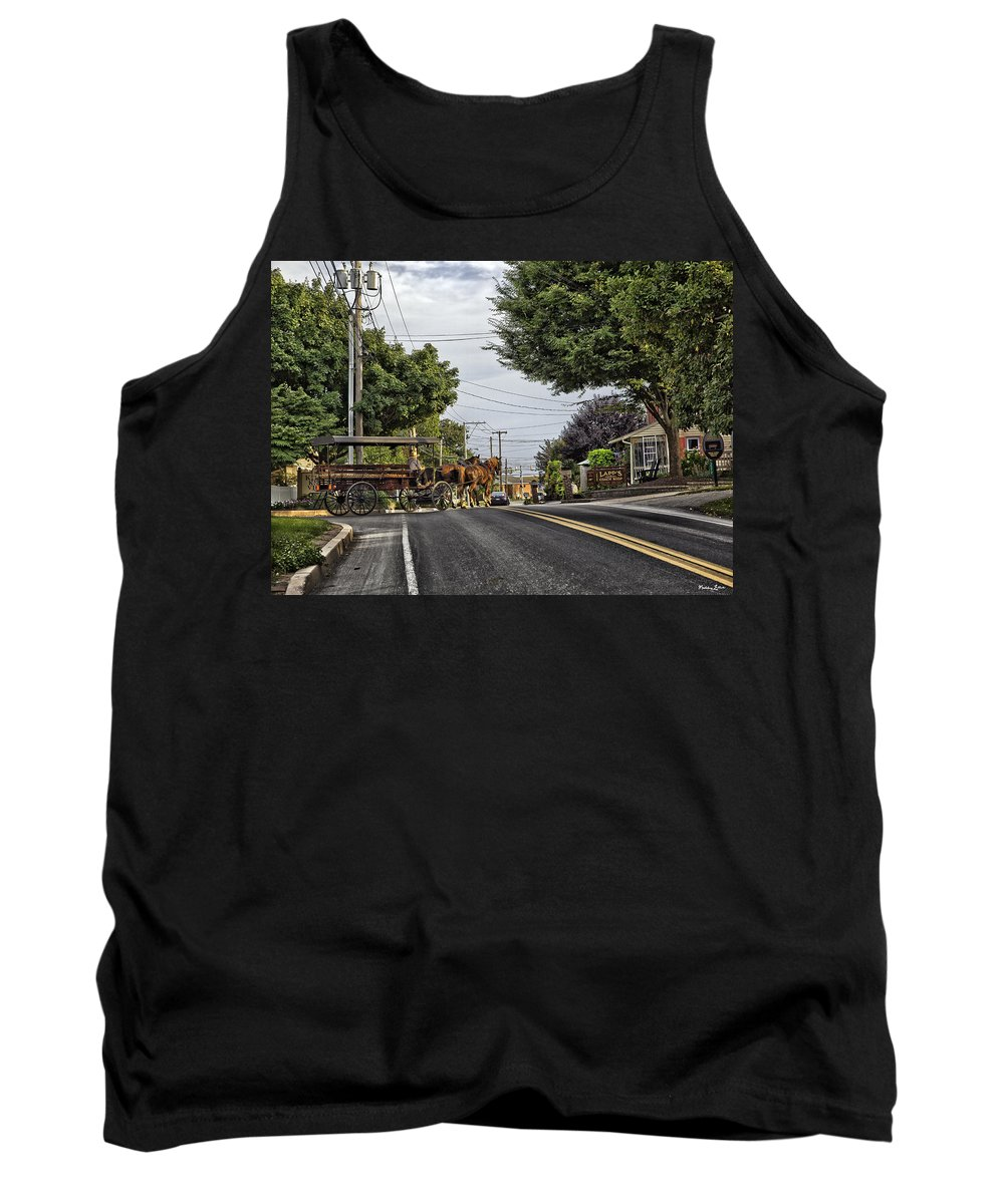 Amish Tank Top featuring the photograph Closed On Sundays - Amish Country by Madeline Ellis