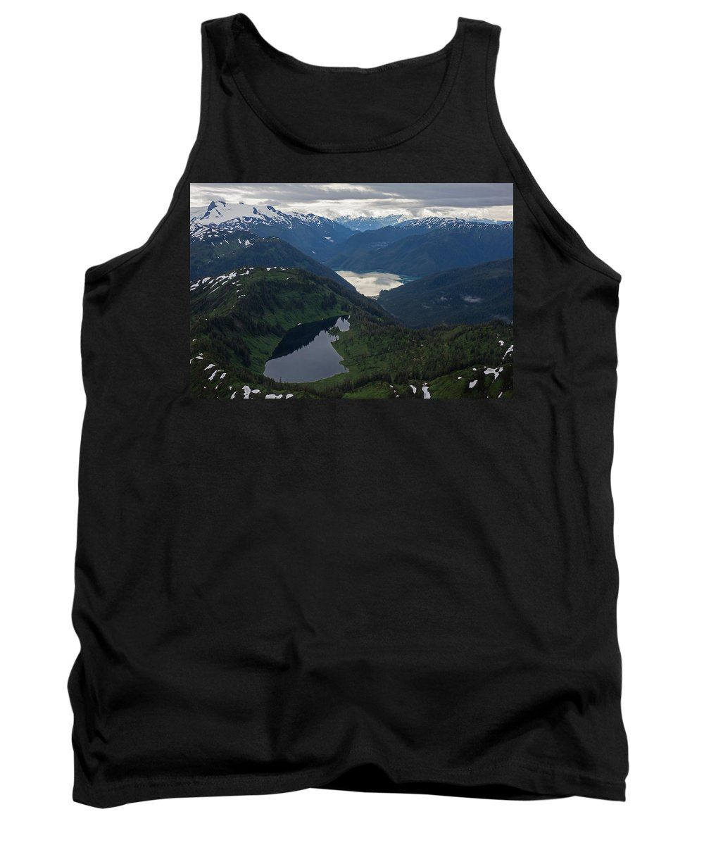 Frederick Sound Tank Top featuring the photograph Coastal Range Tranquility by Mike Reid