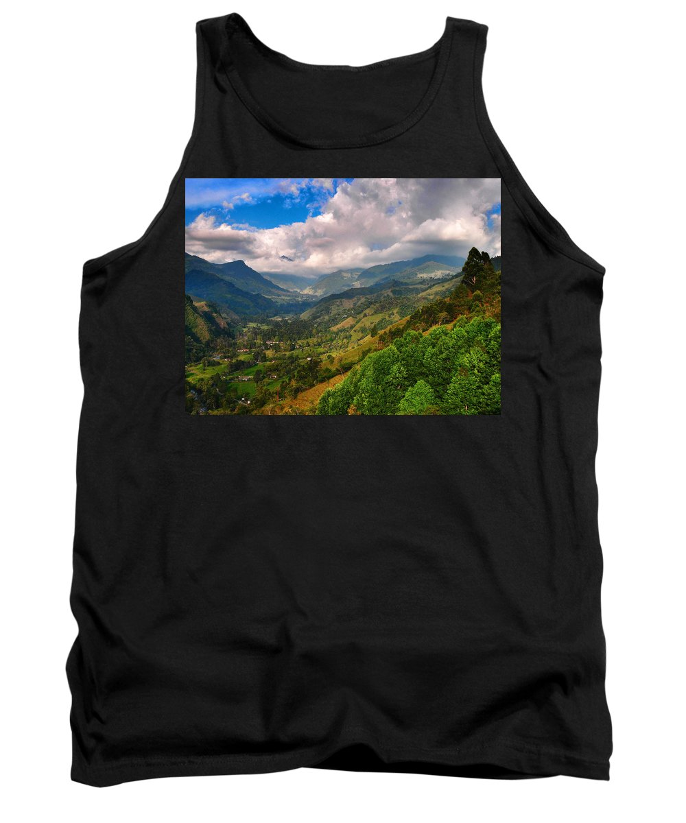 Cocora Valley Tank Top featuring the photograph Cocora Valley by Skip Hunt