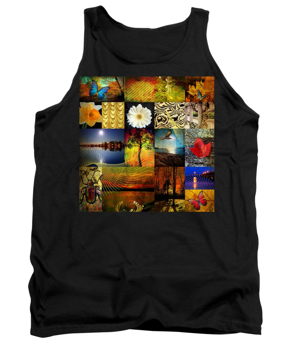 Collage Tank Top featuring the photograph Collage Of Colors by Mark Ashkenazi