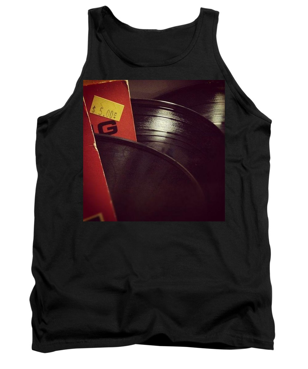 Record Collection Music Recording Disk Vintage Vynyl Classic Tank Top featuring the photograph Collection by Gabe Arroyo