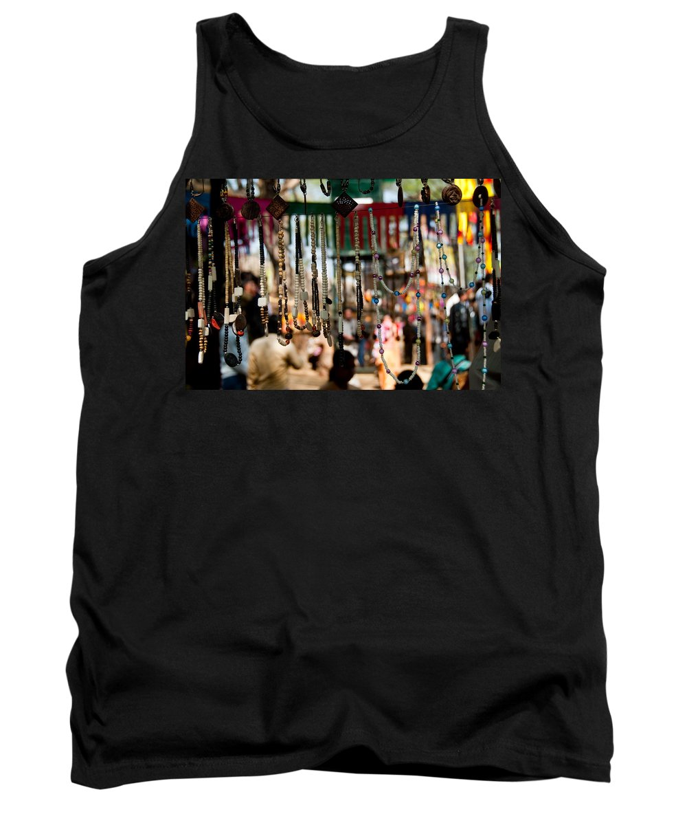 Beads Tank Top featuring the photograph Colorful Beads At The Surajkund Mela by Ashish Agarwal