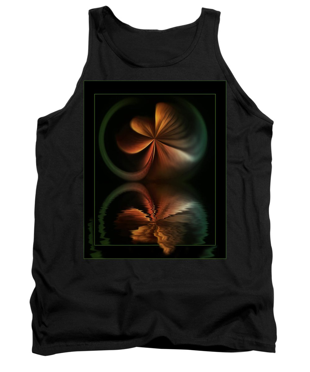 Abstract Tank Top featuring the digital art Colorful Fantasy by Diane Dugas
