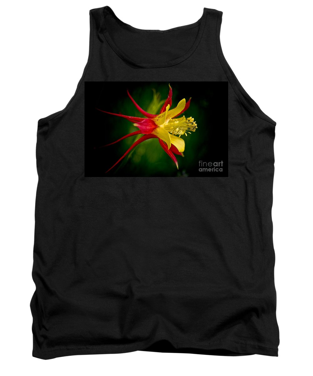 Floral Tank Top featuring the photograph Columbine by Larry Carr