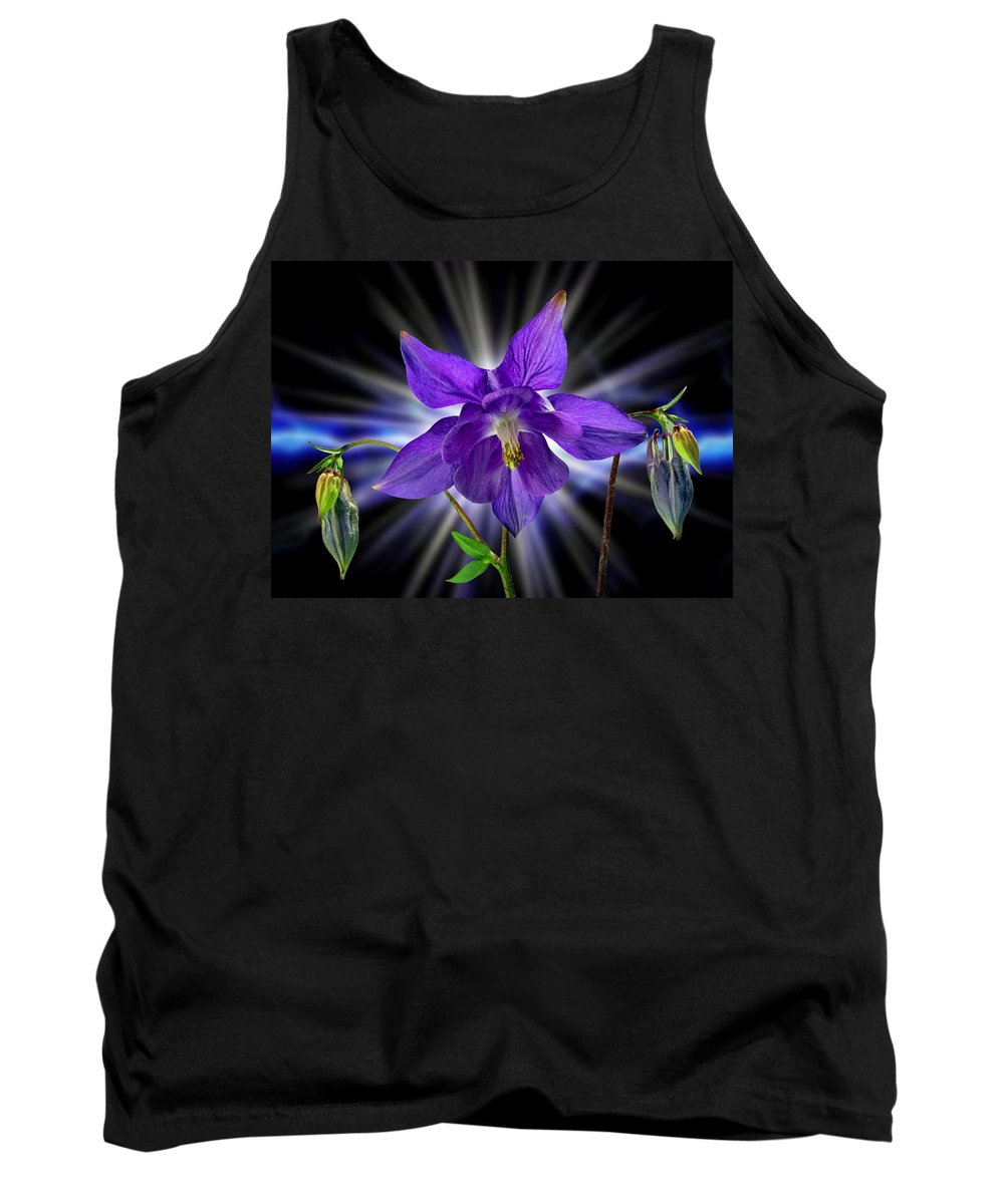Columbine Tank Top featuring the photograph Columbine by Manfred Lutzius
