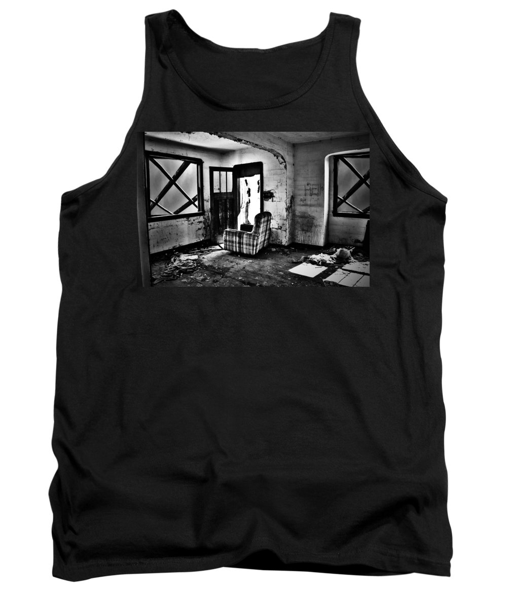 Street Photography Photographs Tank Top featuring the photograph Comfortably Caged by The Artist Project