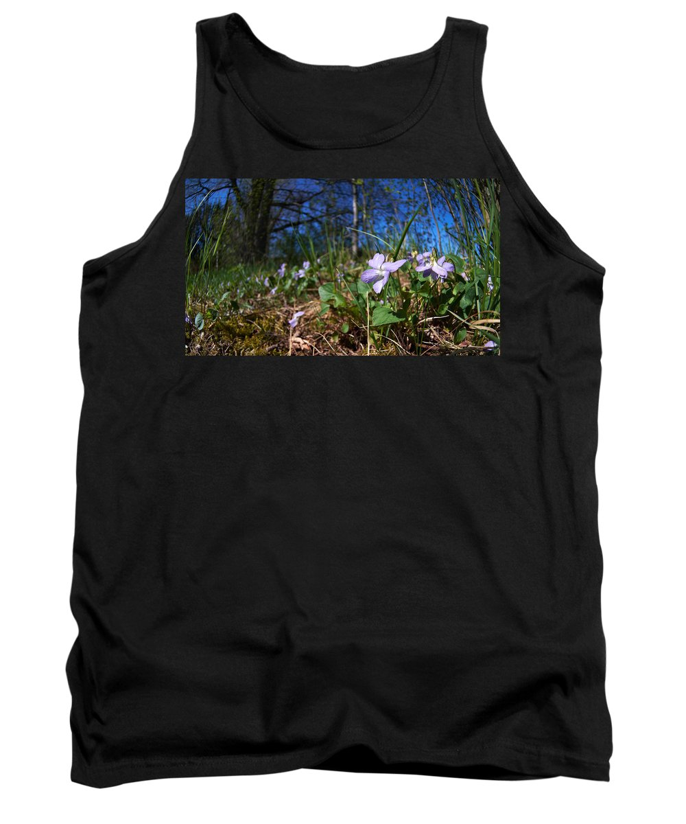 Isosuo Tank Top featuring the photograph Common Dog-violet by Jouko Lehto