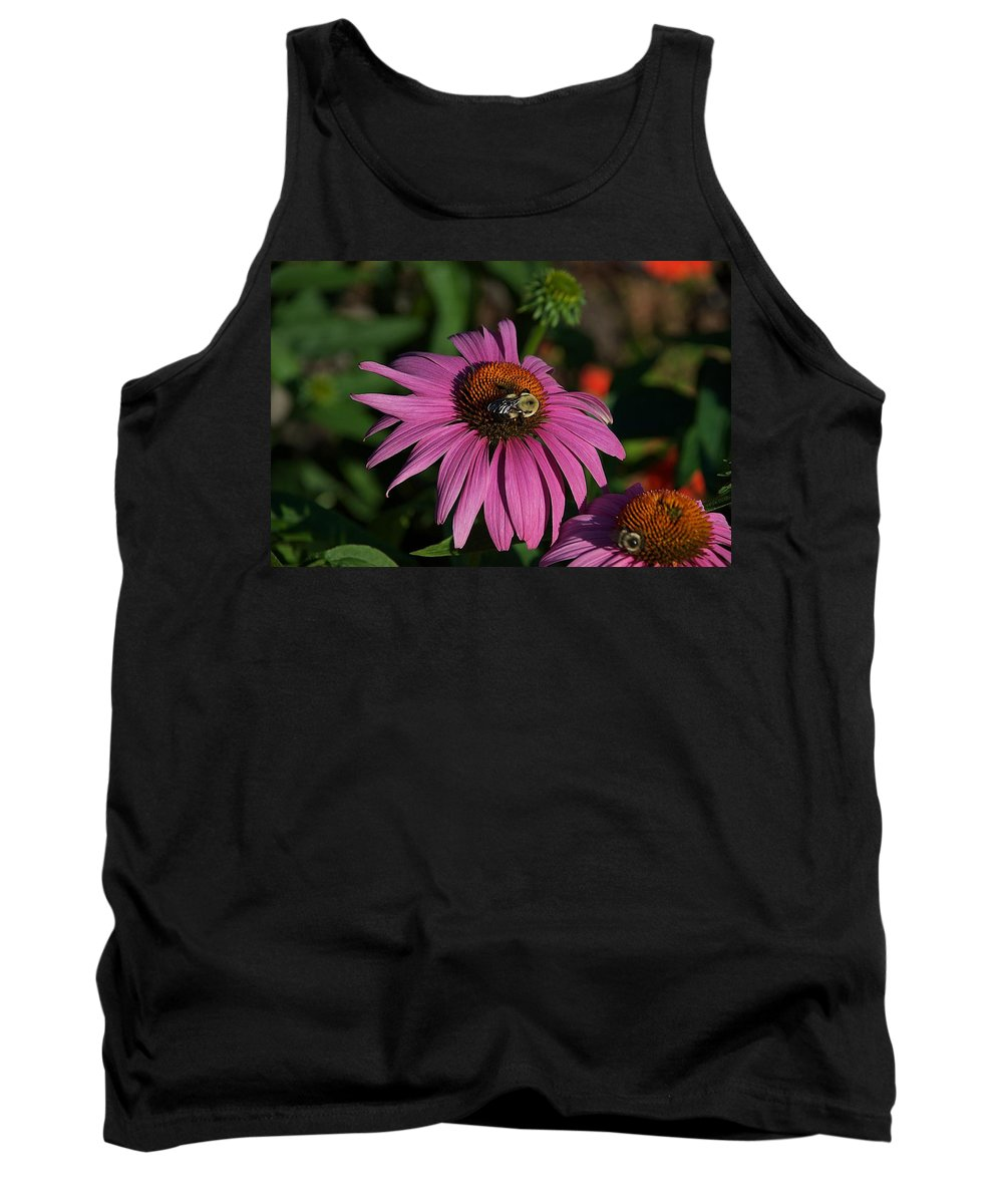 Bumble Bee Tank Top featuring the photograph Corn Flower by Joseph Yarbrough
