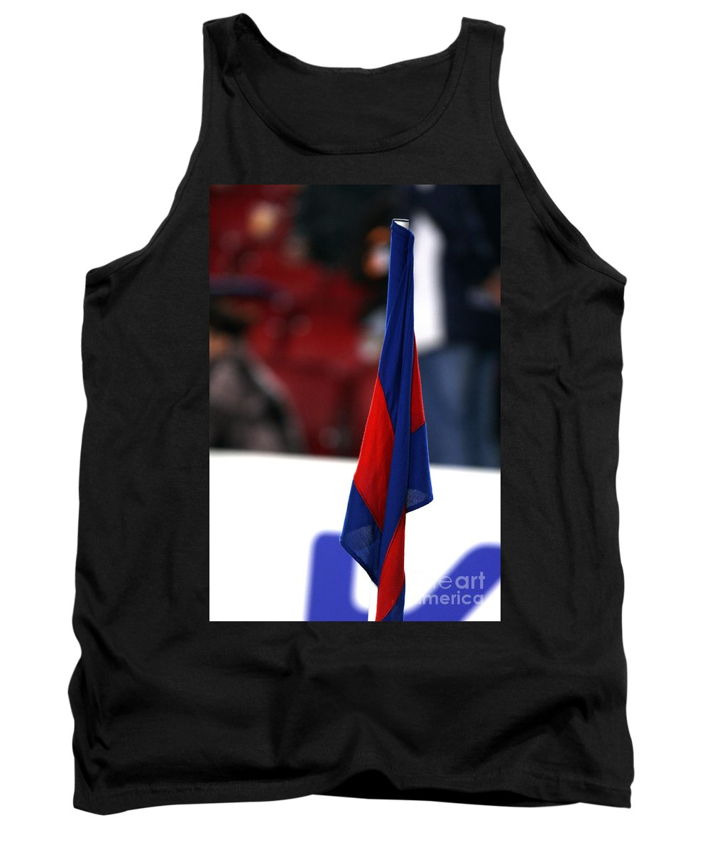 Camp Nou Tank Top featuring the photograph Corner Flag Of Camp Nou by Agusti Pardo Rossello