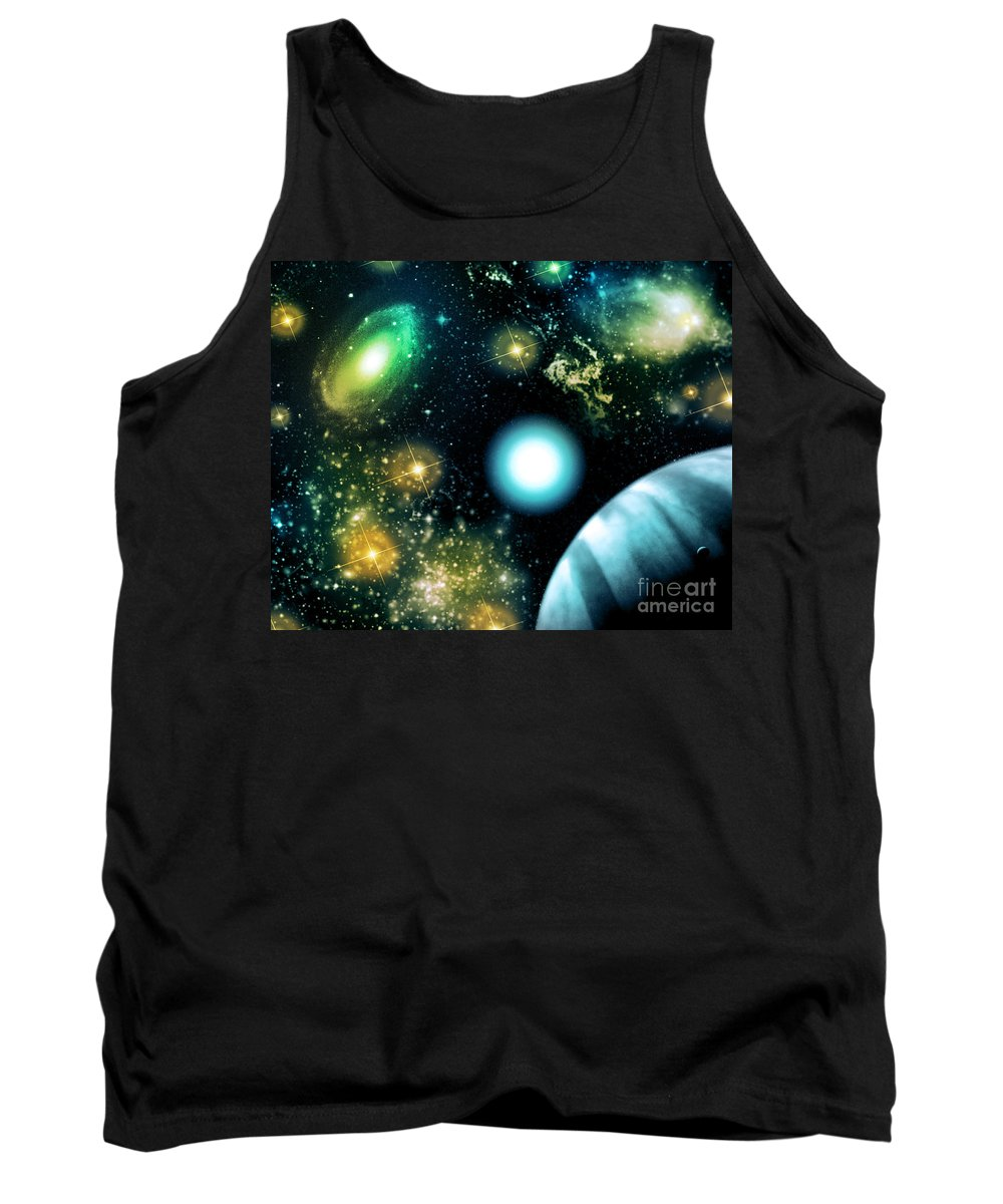 Tank Top featuring the digital art Cos 30 by Taylor Webb