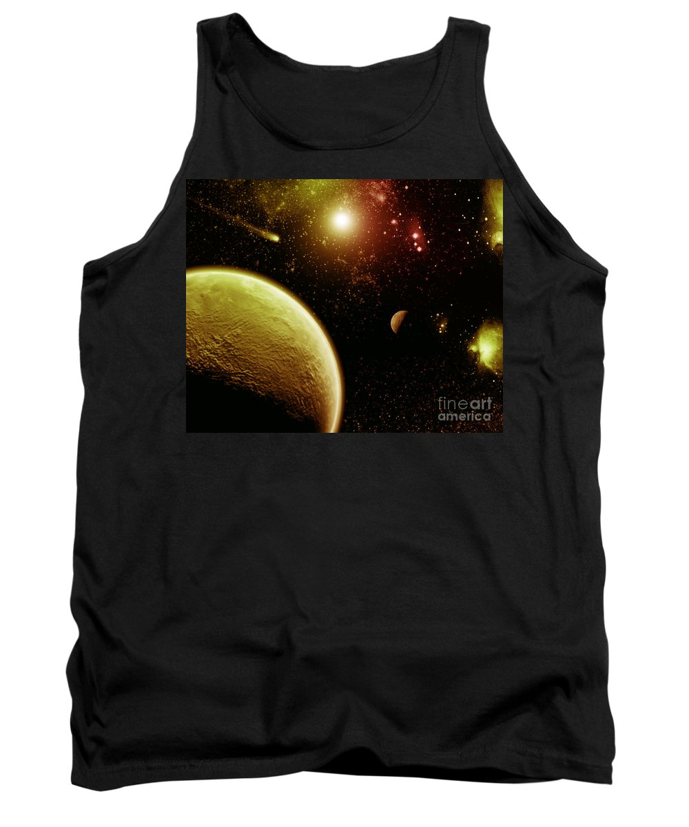 Tank Top featuring the digital art Cos 35 by Taylor Webb