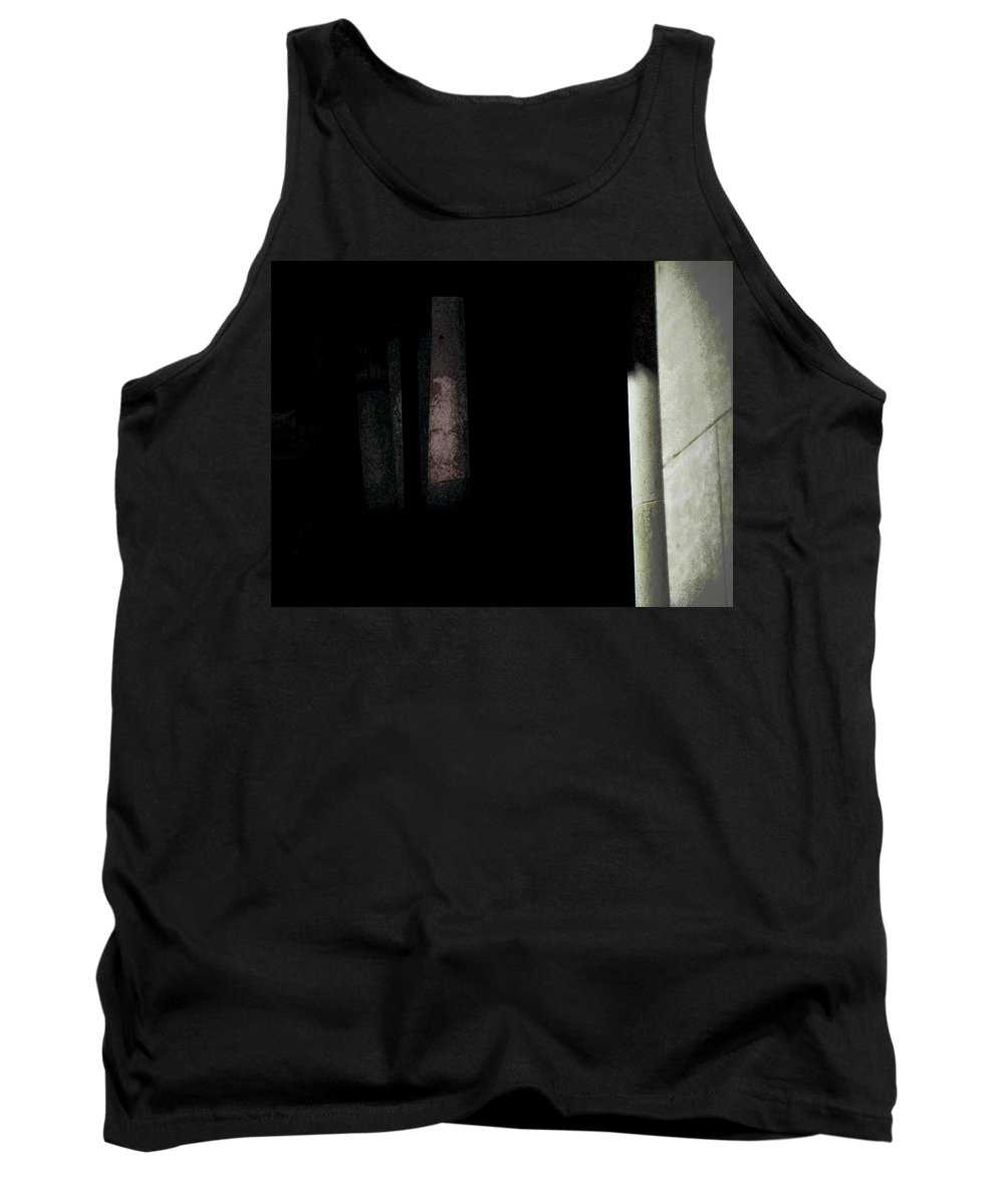 Abstract Tank Top featuring the photograph Courthouse Eagle Stands Guard by Lenore Senior