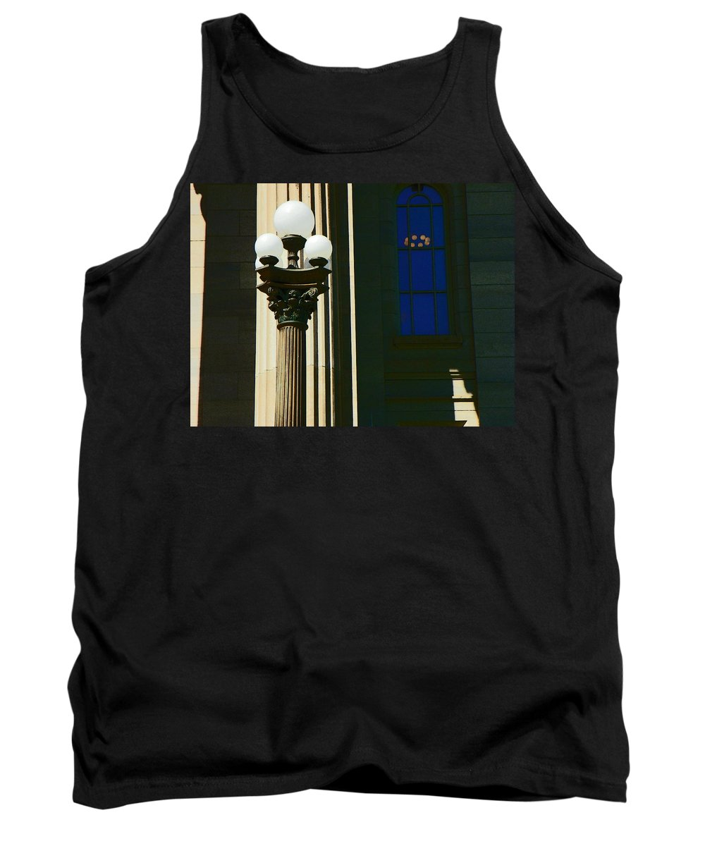 Abstract Tank Top featuring the photograph Courthouse Lights by Lenore Senior