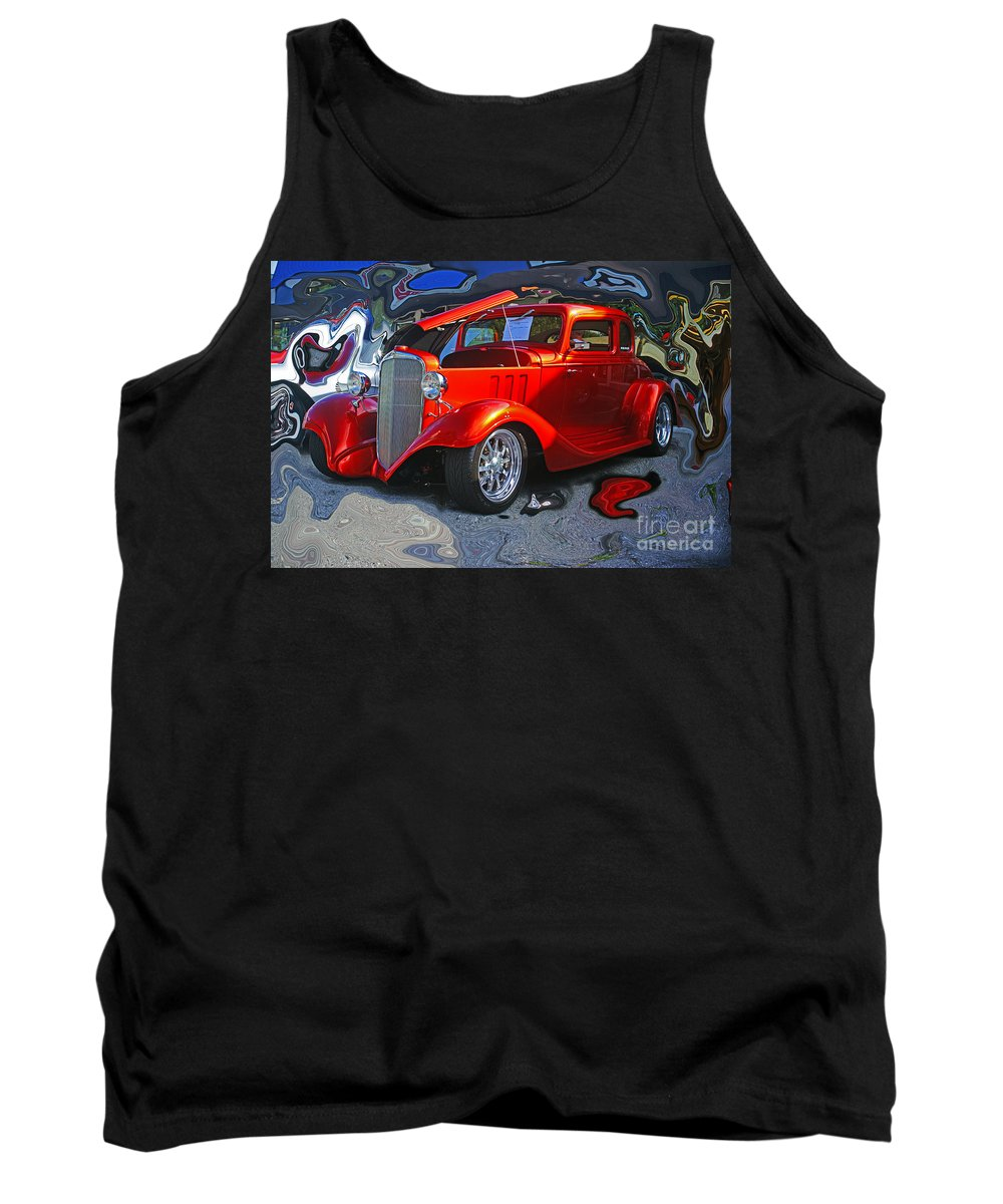 Cars Tank Top featuring the photograph Crazy Background by Randy Harris