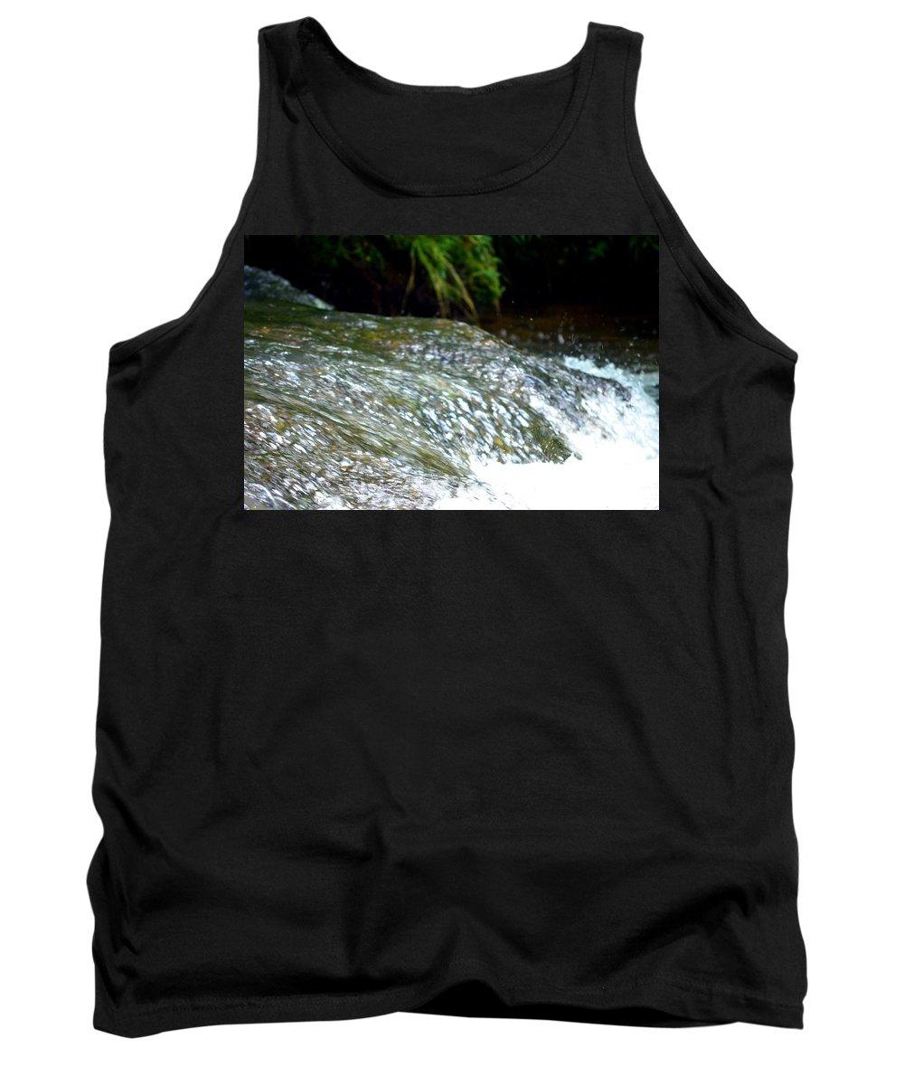 Creek Tank Top featuring the photograph Creek Water Splash by Maria Urso