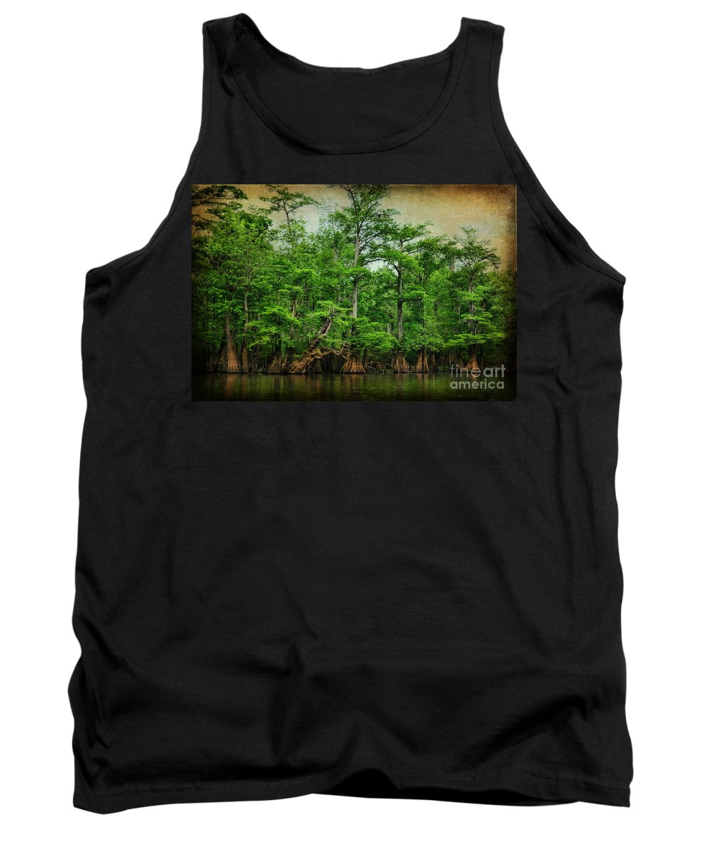 Cypress Tank Top featuring the photograph Cypress Trees by Joan McCool