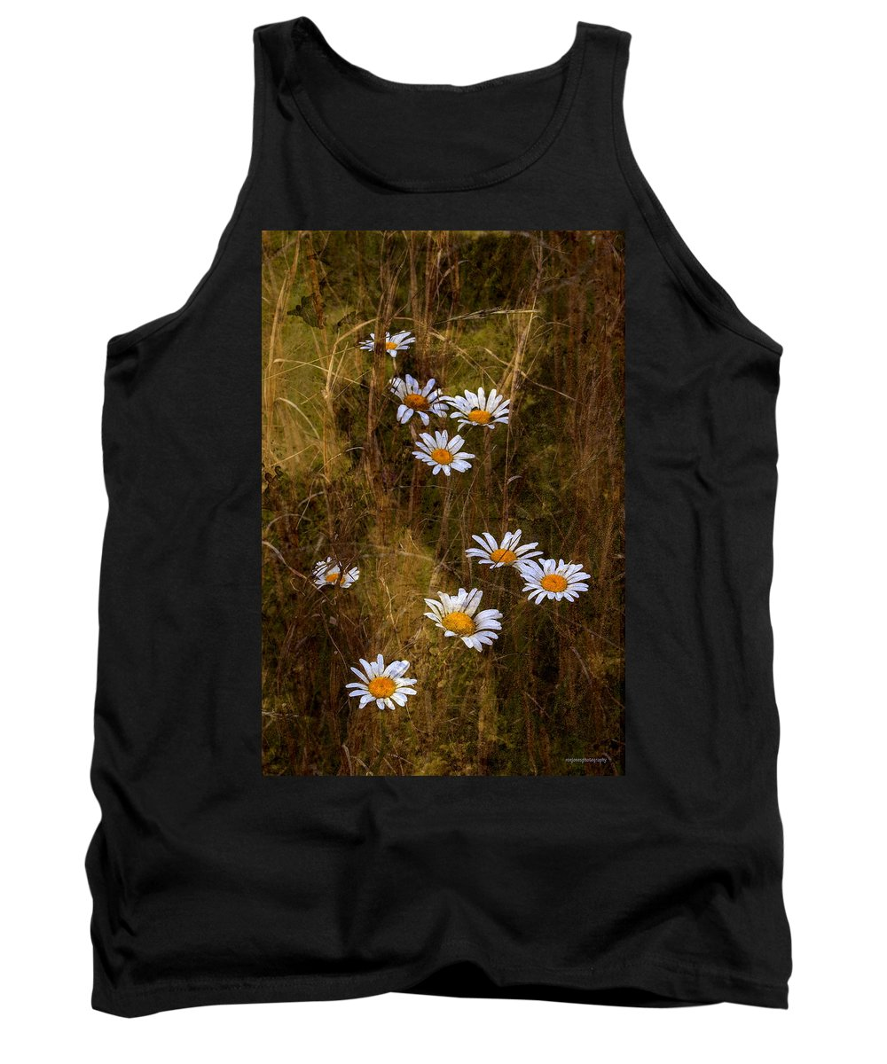 Floral Tank Top featuring the photograph Daisies by Ron Jones