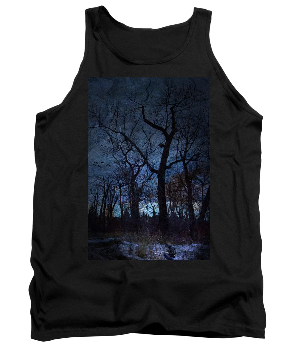 Darkness Tank Top featuring the digital art Darkness by Diane Dugas
