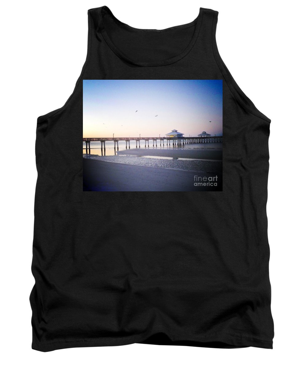 Florida Tank Top featuring the photograph Dawn Breaking Vanilla Pop by Chris Andruskiewicz