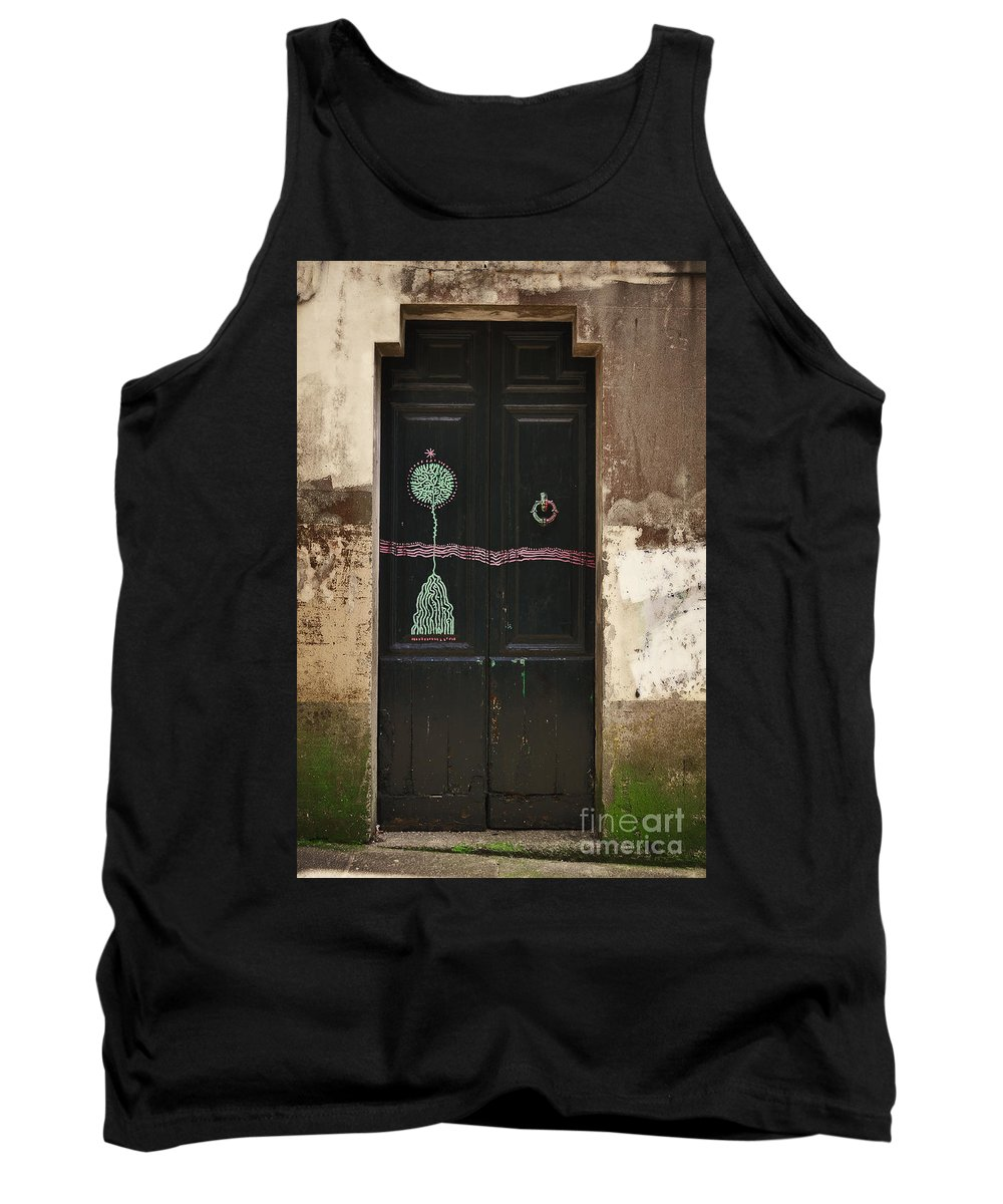 Decorated Tank Top featuring the photograph Decorated Door by Mary Machare