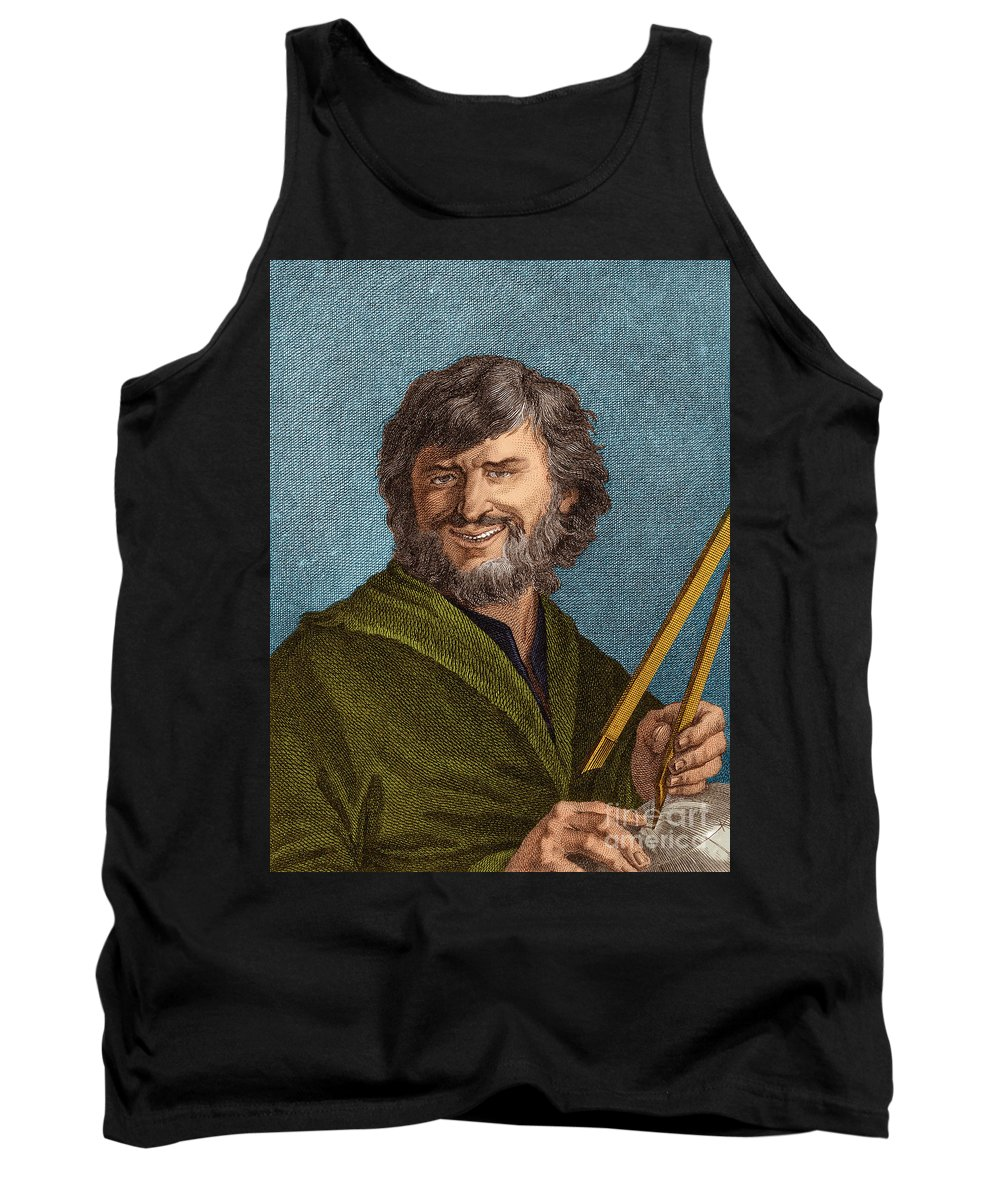 Science Tank Top featuring the photograph Democritus, Greek Polymath by Science Source