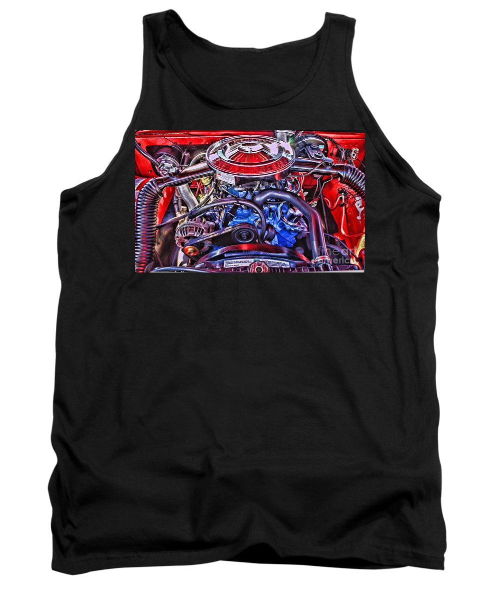 Cars Tank Top featuring the photograph Dodge Motor Hdr by Randy Harris