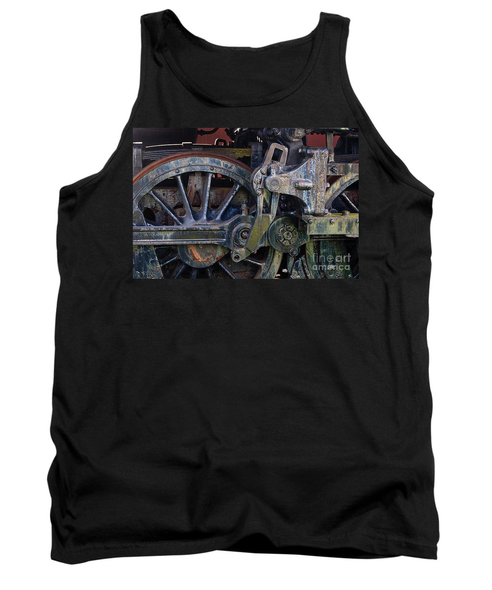 Steam Engine Tank Top featuring the photograph Drive Rod Assembly by Paul W Faust - Impressions of Light