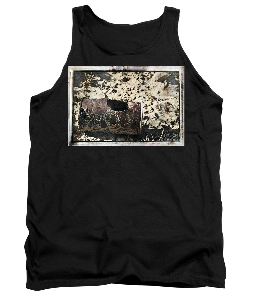 Art Tank Top featuring the photograph E V I D E N C E by Charles Dobbs
