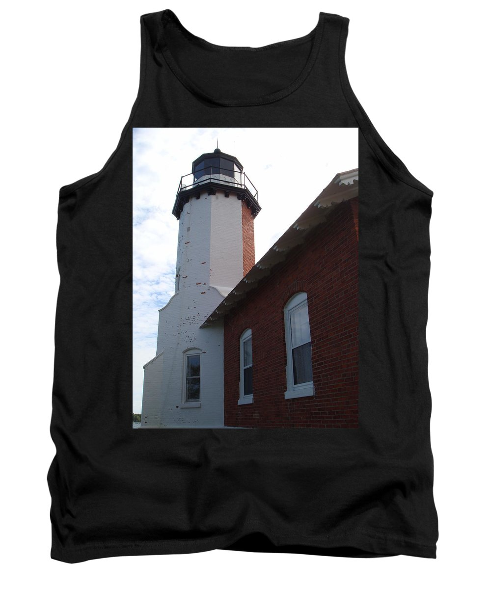 Lighthouse Tank Top featuring the photograph Eagle Harbor by Bonfire Photography