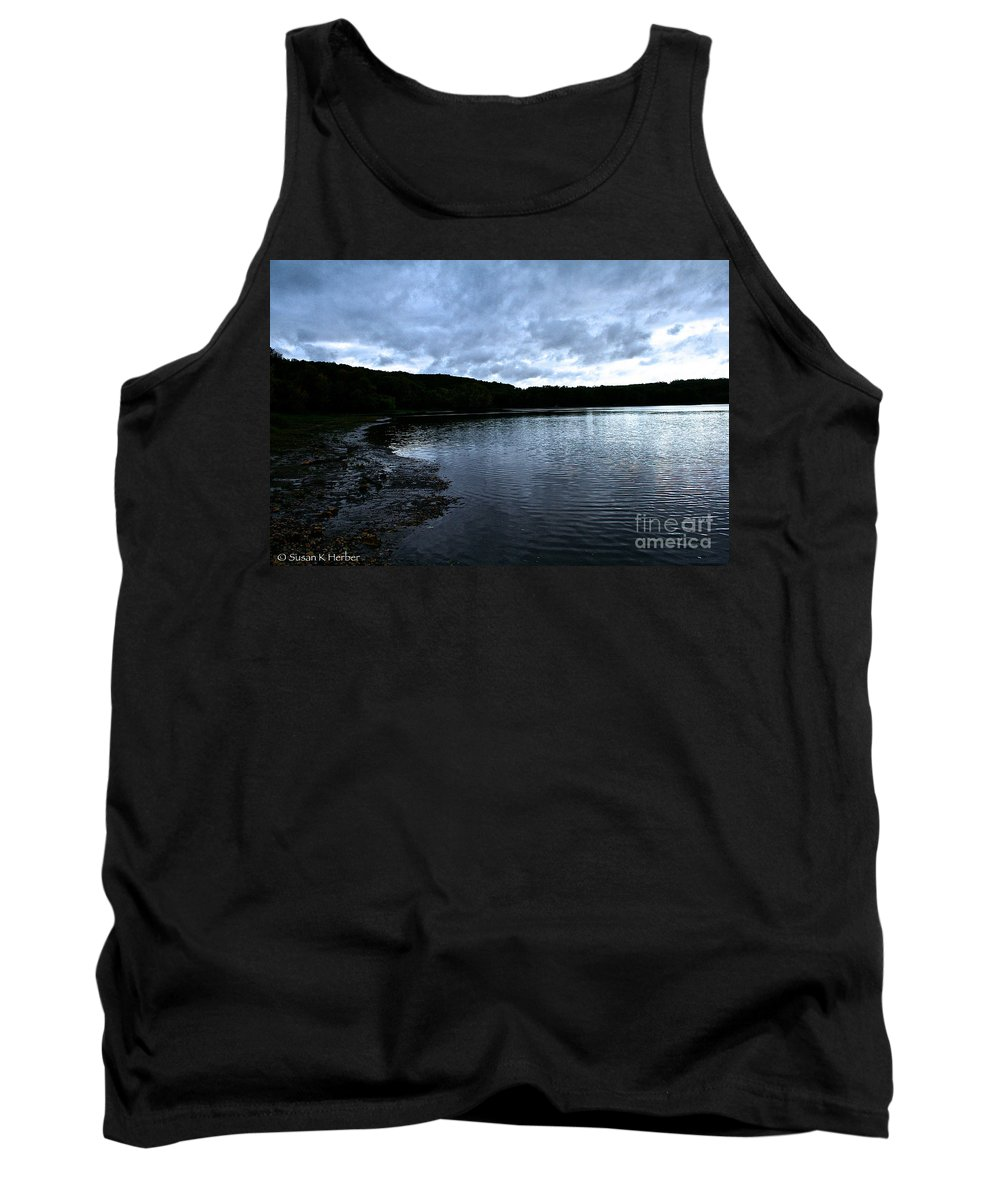 Landscape Tank Top featuring the photograph Early Am Shoreline by Susan Herber