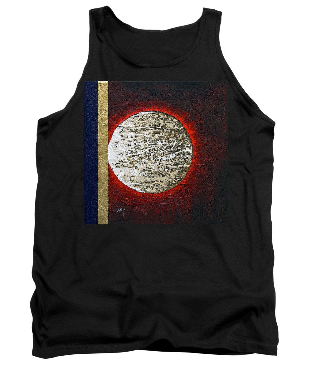 Art Tank Top featuring the painting Eclips Of The Sun by Mauro Celotti