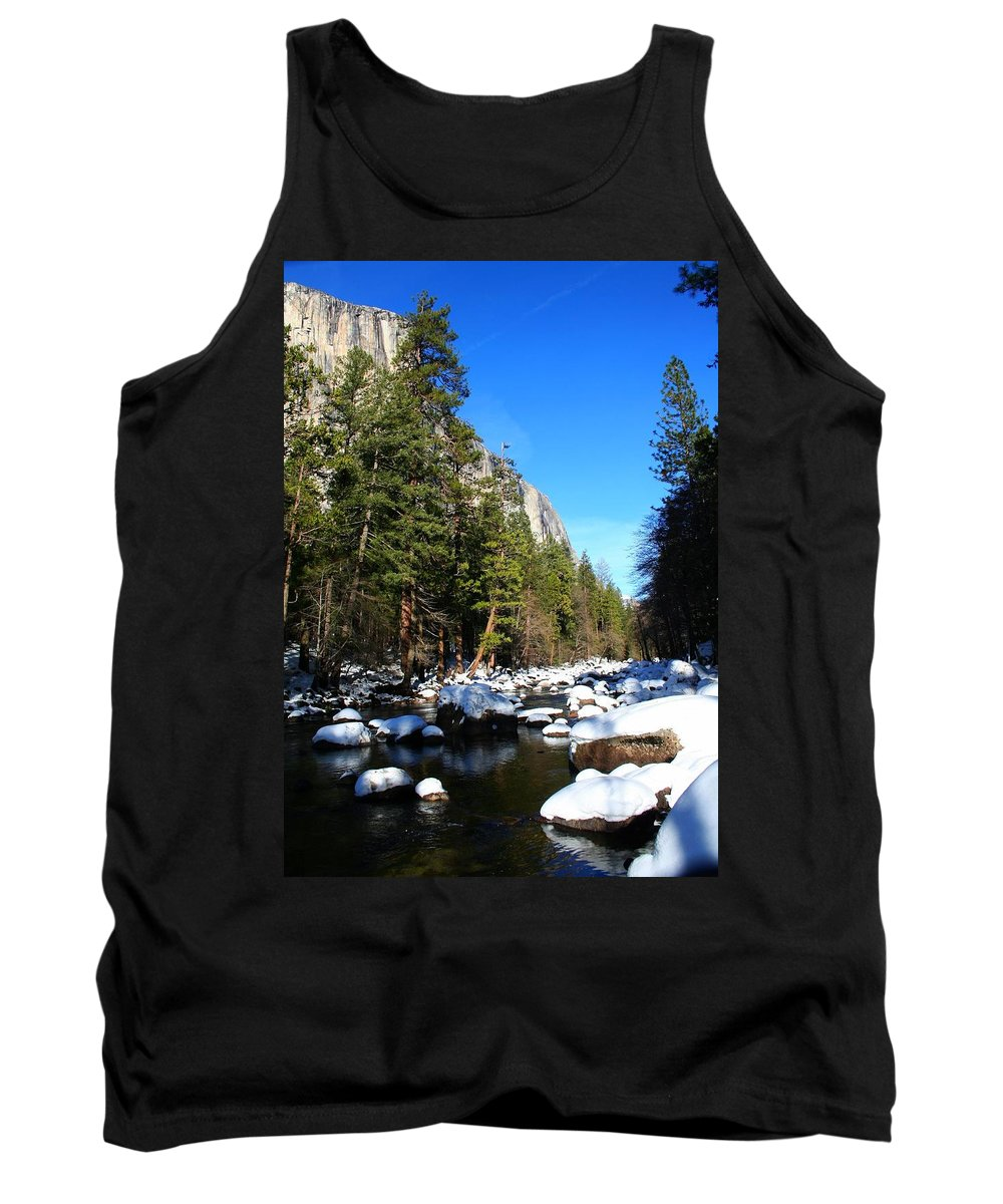 Yosemite National Park Tank Top featuring the photograph El Capitan's Creek by Phil Cappiali Jr