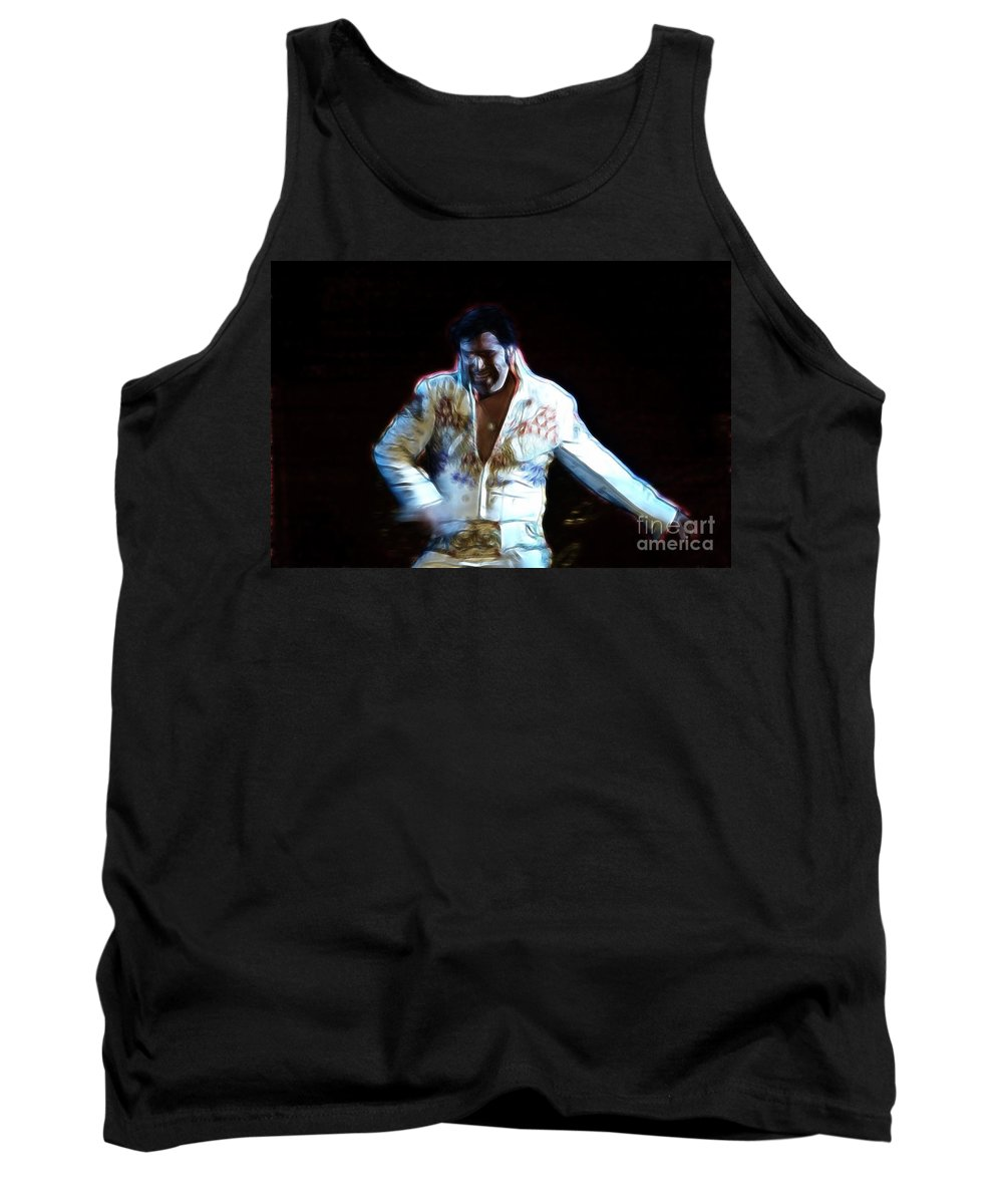 Elvis Tank Top featuring the photograph Elvis Is Alive by Darleen Stry
