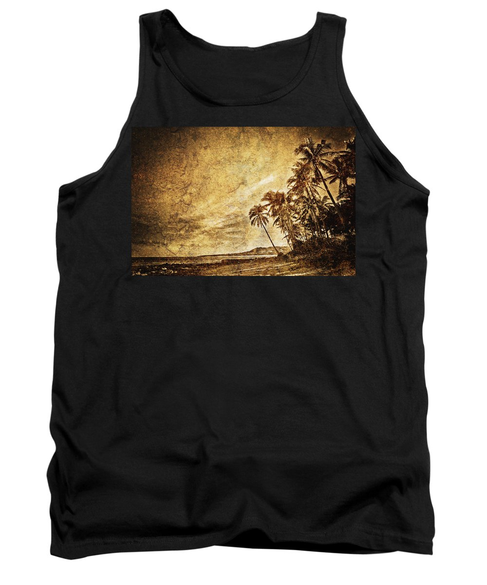 Art Tank Top featuring the photograph Empty Tropical Beach 3 by Skip Nall