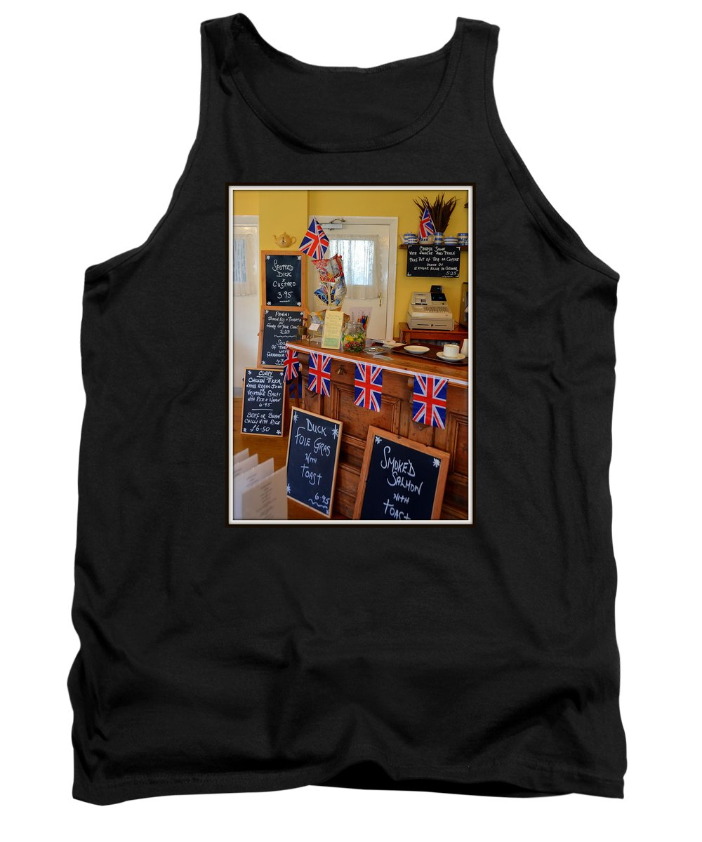England Tank Top featuring the photograph English Tearoom by Carla Parris
