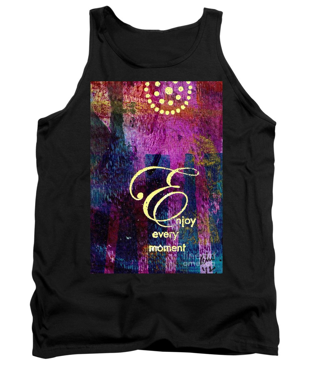 Acrylic Tank Top featuring the painting Enjoying Every Moment by Angela L Walker
