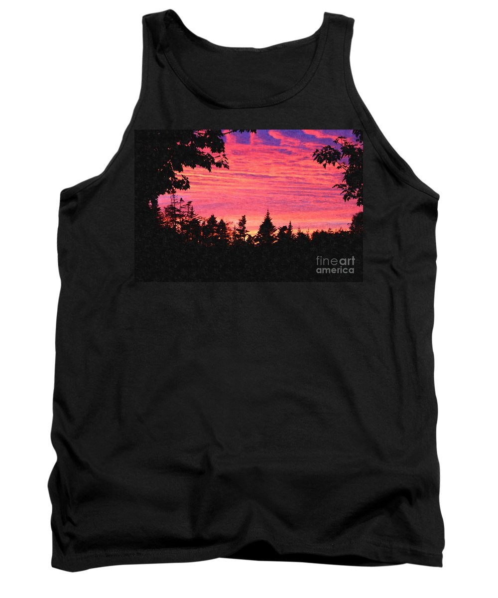 Evening In Paradise Tank Top featuring the digital art Evening In Paradise Painterly Style by Barbara Griffin